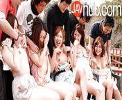 JAVHUB Hardcore Japanese orgy with five sexy ladies from javhub lesbian
