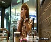 KOREA1818.COM - Horny Korean Girlfriend Filmed on Date from horny fam com