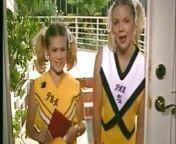 Cheerleaders Kristi and Teri Starr threesome from cheerleader