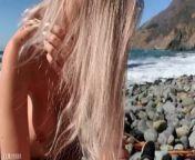 Russian teen girl swallows hot cum on Californian public beach - Eva Elfie from collej girl sex videoxx raani