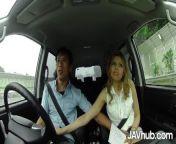 JAVHUB Horny JAV girl sucks and fucks two different men in her car from assamese girls car sex